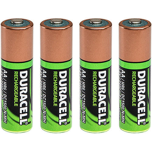 FoxFury Duracell Rechargeable AA Battery (2450mAh, 4-Pack)