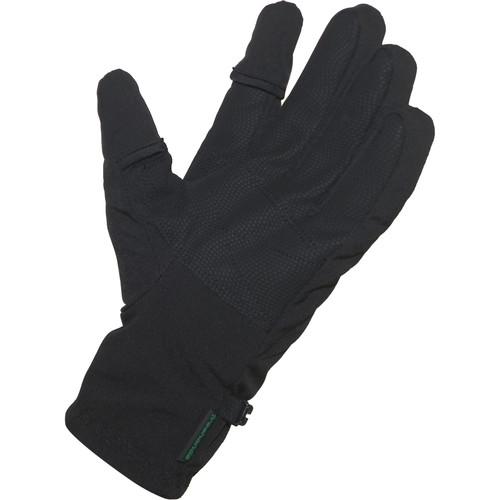 Freehands Men's Softshell Photo Gloves (Large, Black)