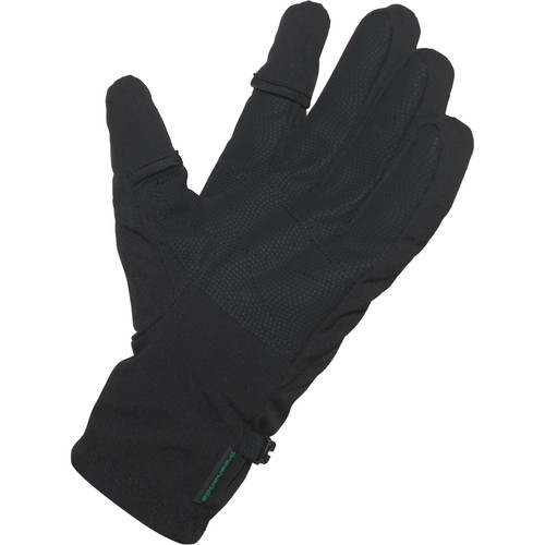 Freehands Men's Softshell Photo Gloves (Medium, Black)