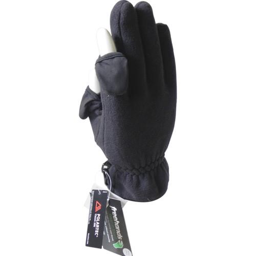 Freehands Women's Polartec Fleece Unlined Gloves (Large, Black)