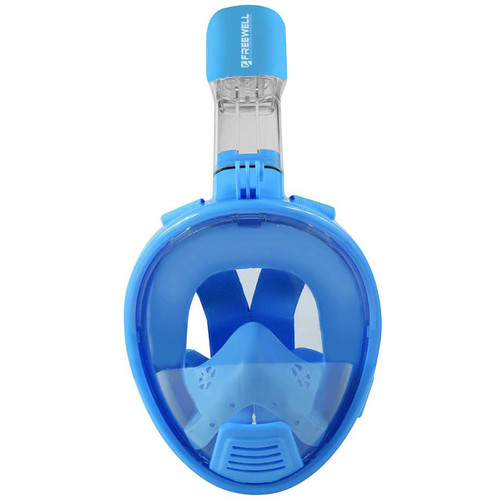 Freewell Full-Face Snorkeling Mask with Action Camera Mount (XS, Blue)