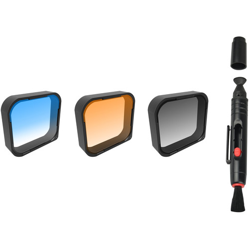 Freewell Gray, Orange & Blue Grad Filter for GoPro Hero5 Black (3-Pack)
