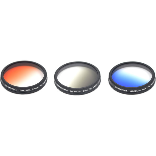 Freewell Gray, Orange & Blue Graduated Filters with Lens Cleaner & Pouch (3-Pack)