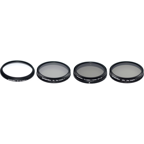 Freewell ND2-400, CPL, PL & UV Filters with Lens Cleaner & Pouch (4-Pack)