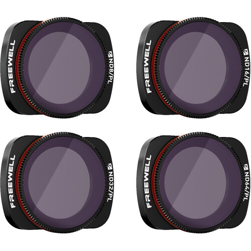 Freewell DJI Osmo Pocket Filters - Bright Day ND/PL - 4Pack