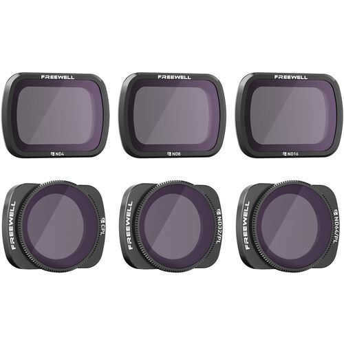 Freewell Budget Kit E Series 6PK Camera Lens Filters Compatible With DJI Osmo Pocket