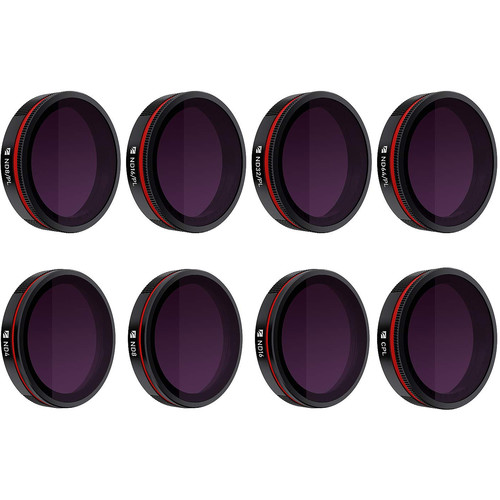 Freewell All-Day Lens Filter Bundle for Skydio 2 Drones (8-Pack)