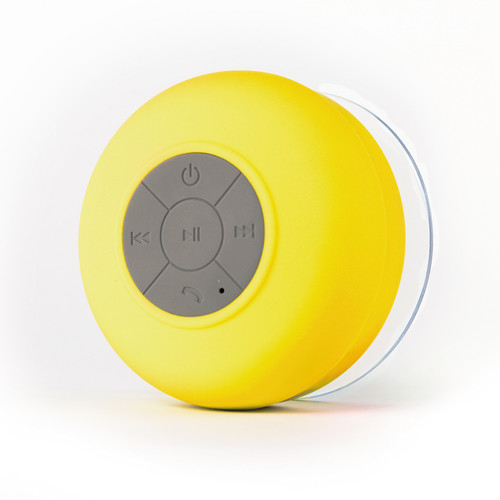 FRESHeTECH Splash Shower Tunes Bluetooth Waterproof Shower Speaker (Yellow)