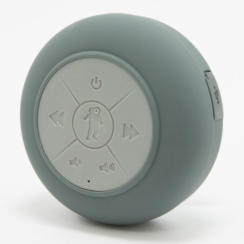 FRESHeTECH Splash Tunes Pro Waterproof Bluetooth Shower Speaker (Charcoal Gray)