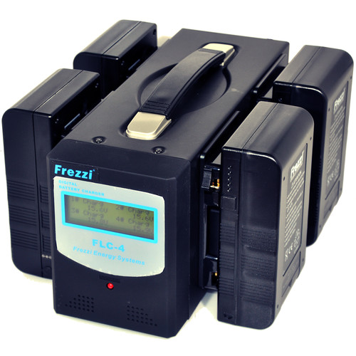 Frezzi Lithium-Ion Gold Mount Quad Power Package