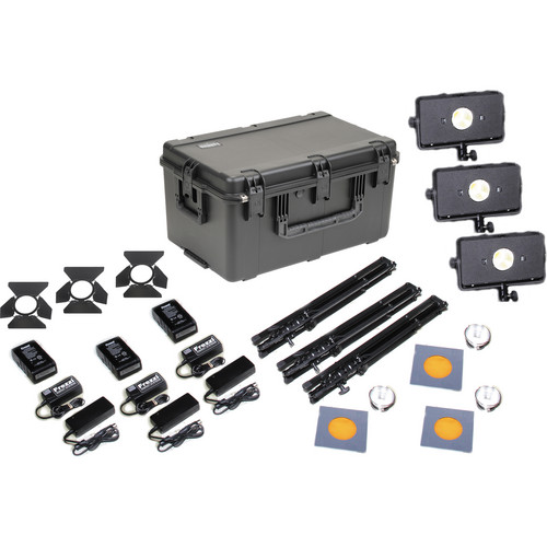 Frezzi Skylight Triple AC/DC Anton Bauer-Mount Light Kit with Charger