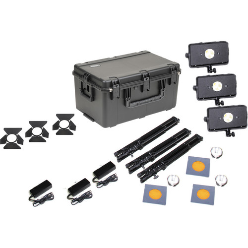 Frezzi Skylight Triple AC V-Mount Light Kit without Charger