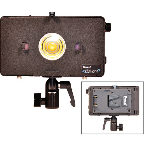 Frezzi HL1 HyLight High-Intensity LED Lamp with V-Mount Battery Bracket with Barndoors