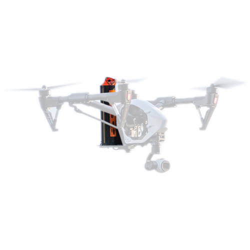 Fruity Chutes DJI Inspire 1 Drone Parachute with Automatic Trigger System (Alternating Orange & White)