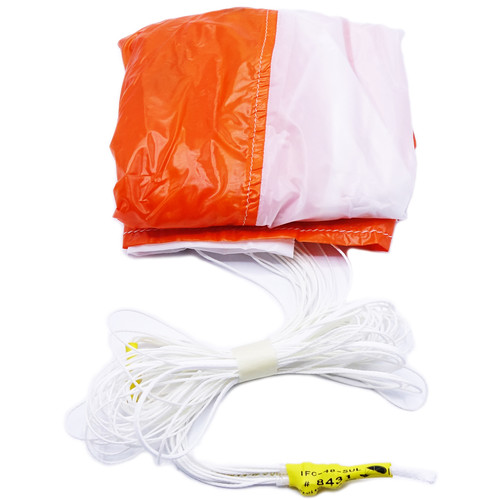 Fruity Chutes Parachute with Automatic Trigger System for DJI Phantom 4 Drone (Orange/White, Assembled)