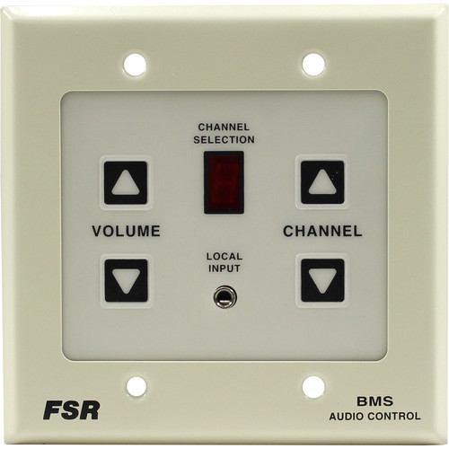 FSR Wall Plate with Local Input On Front for BMS-1032