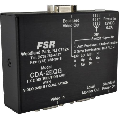 FSR CDA-2EQG 1x2 Computer Video Distribution Amplifier