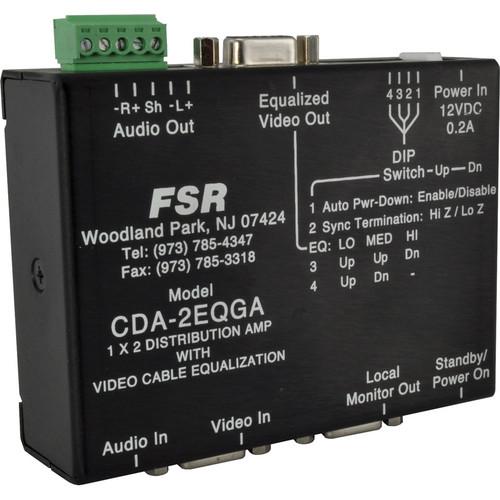 FSR CDA-2EQGA High Resolution 1 x 2 Distribution Amplifier