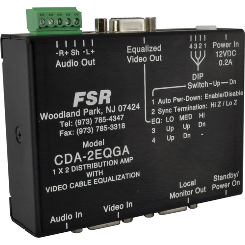 FSR CDA-2EQGA High Resolution 1 x 2 Distribution Amplifier