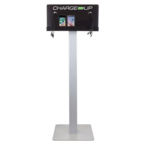 FSR Floor Stand with Stock Logo for Charge-Up Charging Station