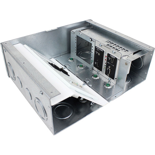 """FSR Crestron DM-TX Bracket and Blank Plate for FL-500/540 4"""" Floor Box"""