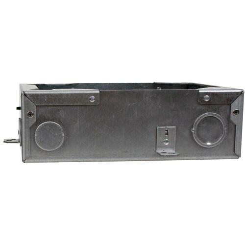 "FSR FL-200 3"" Deep Bottom Floor Box with Steel Construction Cover"