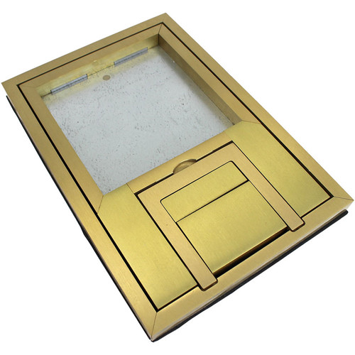 """FSR FL-200 U-Access Cover with Lift-Off Door (1/2"""" Brass Square Flange)"""