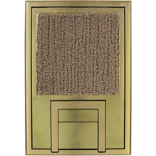 "FSR Scrub Water Cover for FL-200 Floor Box with 1/4"" Beveled Brass Edging"