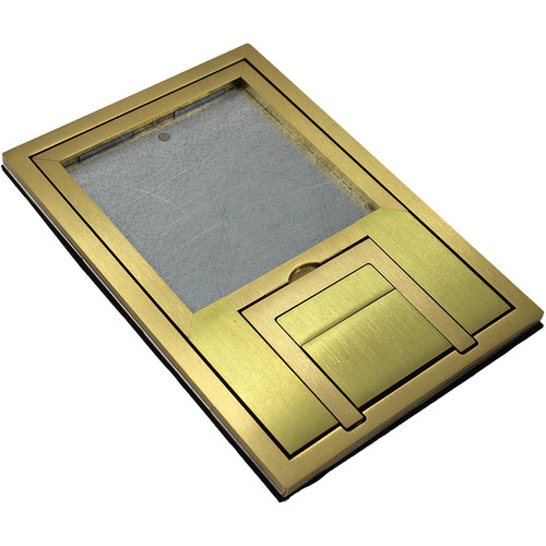 "FSR FL-200 U-Access Cover with Lift-Off Door (1/4"" Brass Square Flange)"