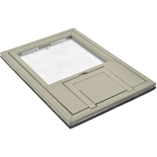 "FSR FL-200 U-Access Cover with Lift-Off Door (1/4"" Clay Beveled Flange)"