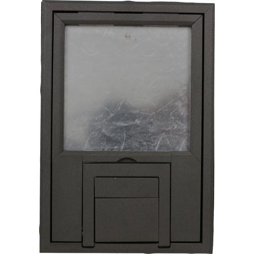 "FSR FL-200 U-Access Cover with Lift-Off Door (1/4"" Gray Beveled Flange)"