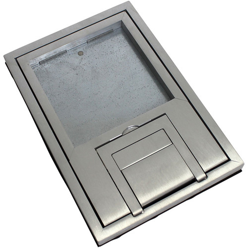 "FSR FL-200 U-Access Cover with Lift-Off Door (1/2"" Aluminum Square Flange)"