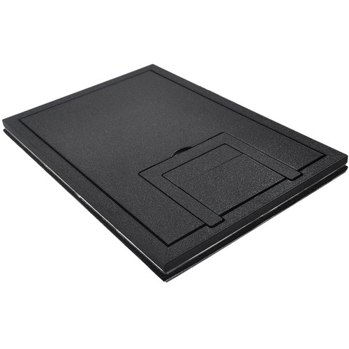 "FSR FL-200 U-Access 1/4"" Solid Cover with Cable Exit (Black)"