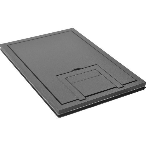 """FSR FL-200 U-Access 1/4"""" Solid Cover with Cable Exit (Gray)"""