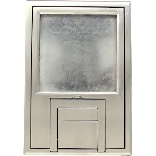 "FSR Scrub Water Cover for FL-200 Floor Box with 1/4"" Beveled Aluminum Edging"