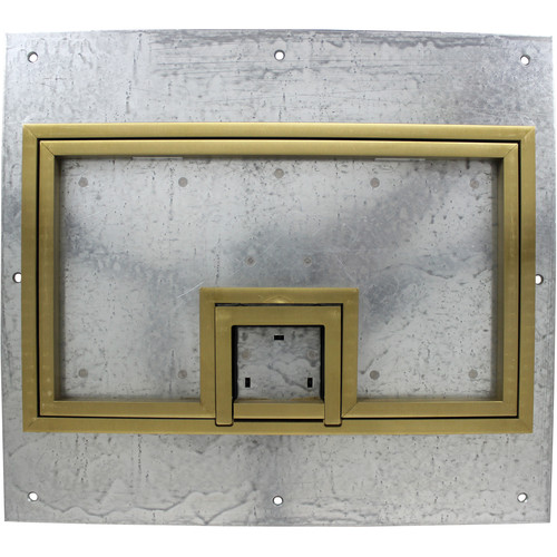 "FSR U-Access Cover with Lift-Off Door & 0.5"" Brass Square Flange for FL-600P Box"
