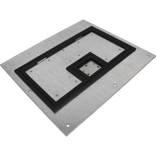 "FSR FL-600P Cover with 1/4""Painted Carpet Flange - Black (Lift Off Door)"