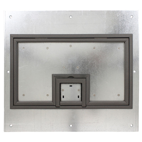 """FSR Cover with 1/4"""" Painted Carpet Flange (Gray, Lift-Off Door)"""