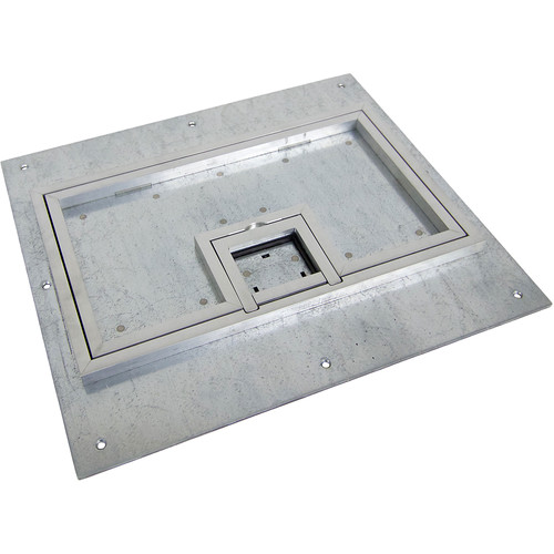 "FSR Cover for FL-600P Floor Box with 0.5"" Aluminum Carpet Flange (Lift-Off Door)"