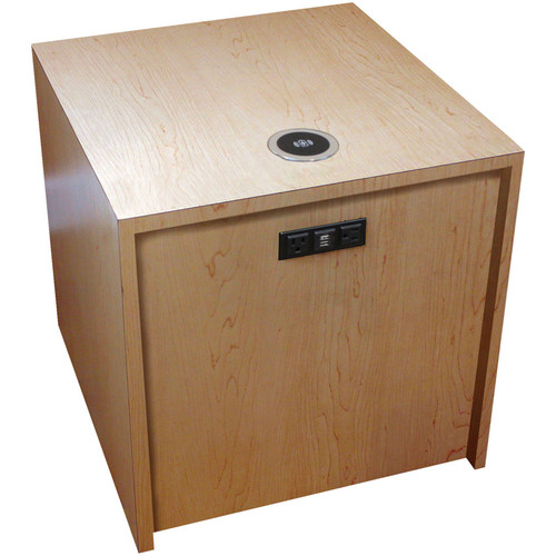 "FSR Huddle BLOX Power Distribution & Charging Station (21"" Cube, Maple)"