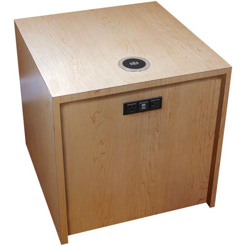 "FSR Huddle BLOX Power Distribution & Charging Station (21"" Cube, Maple)"