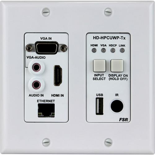 FSR HDMI/PC/USB over HDBaseT 2-Gang Wall Plate Transmitter (330')