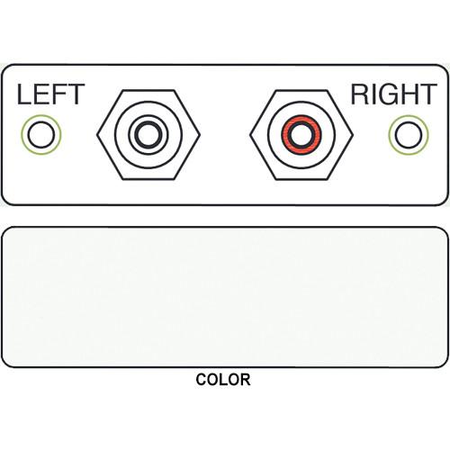 FSR IPS-A220S-WHT-LB 2-RCA to 2-RCA Bulkhead Audio Module (Labeled, White)