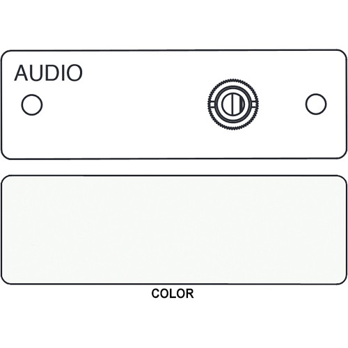 FSR IPS-A510S 3.5mm Stereo to Solder Cup Insert (Labeled, White)
