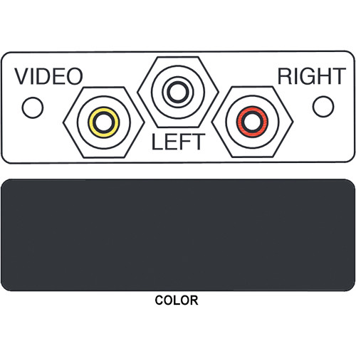FSR IPS-AV231S 3-RCA to 3-RCA Bulkhead Audio/Video Insert (Labeled, Black))