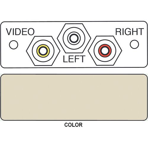 FSR IPS-AV231S 3-RCA to 3-RCA Bulkhead Audio/Video Insert (Labeled, Ivory))