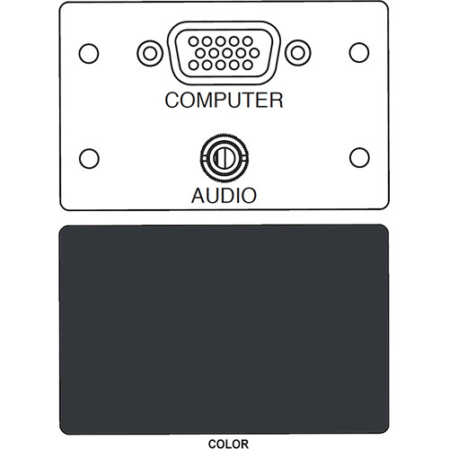 FSR IPS-AV920D HD-15 F/F Bulkhead & Mini Stereo to Solder Cup Insert (Labeled, Black)