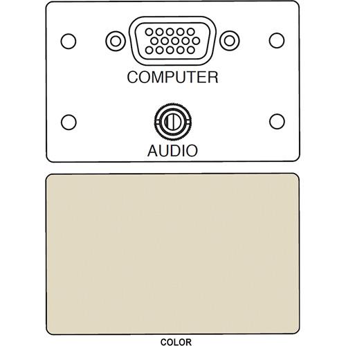 FSR IPS-AV920D HD-15 F/F Bulkhead & Mini Stereo to Solder Cup Insert (Labeled, Ivory)