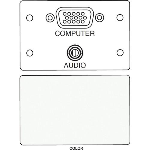 FSR IPS-AV920D HD-15 F/F Bulkhead & Mini Stereo to Solder Cup Insert (Labeled, White)