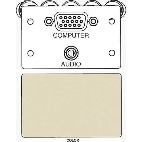 FSR IPS-AV921D A/V HD-15 to 5-BNC & 3.5mm Stereo to Solder Cup Insert (Labeled, Ivory)